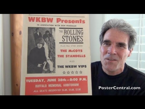 Rolling Stones Window Card 1966 Tour - Buffalo, NY