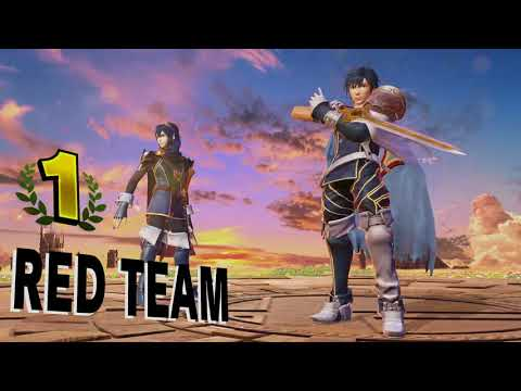 [Chrom/Lucina] Red team victory pose - Super Smash Bros. Ultimate [Japanese/English]