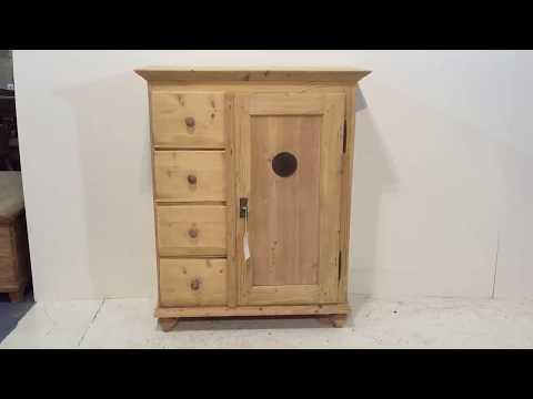 19th Century Old Pine Kitchen Larder Cupboard - Pinefinders Old Pine Furniture Warehouse