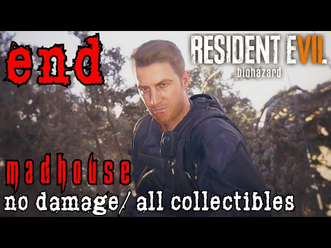 Resident Evil 7 Madhouse Walkthrough END -  Salt Mines & Eveline Boss All Collectibles/No Damage