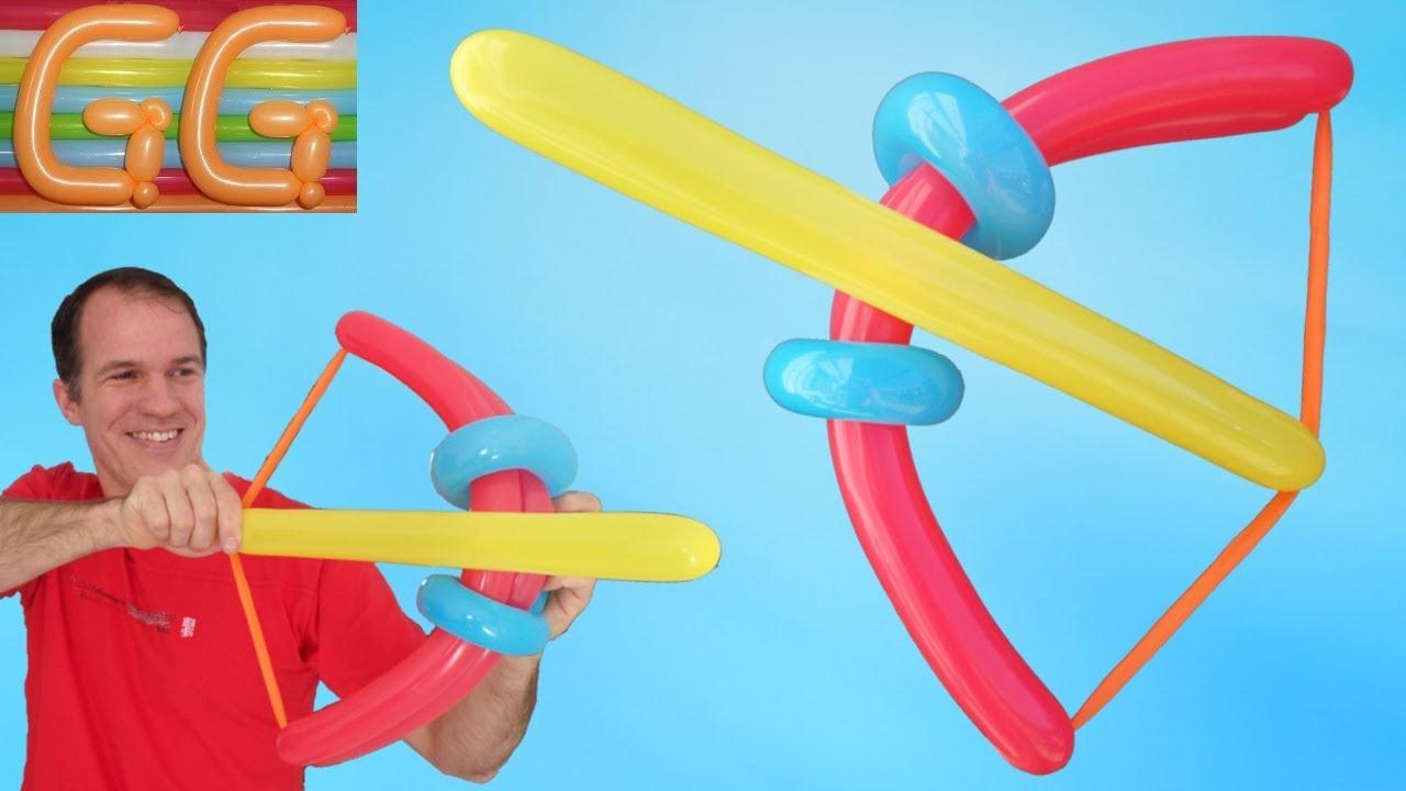 arco y flecha con globos globoflexia facil figuras con globos
