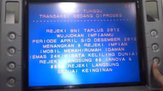 ATM Setor tunai (cdm/cash deposit machine) BNI