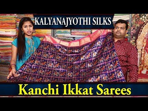 Lightweight Kanchi Ikkat & Banarasi Sarees   KalyanaJyothi Silks Hyderabad   Saree Collections 2019