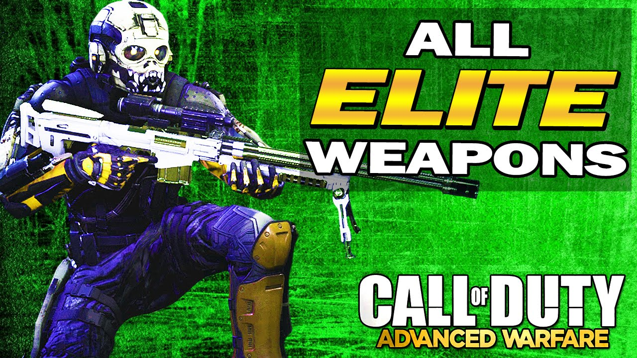 Names amp stats quot advanced warfare quot full elite gun list youtube