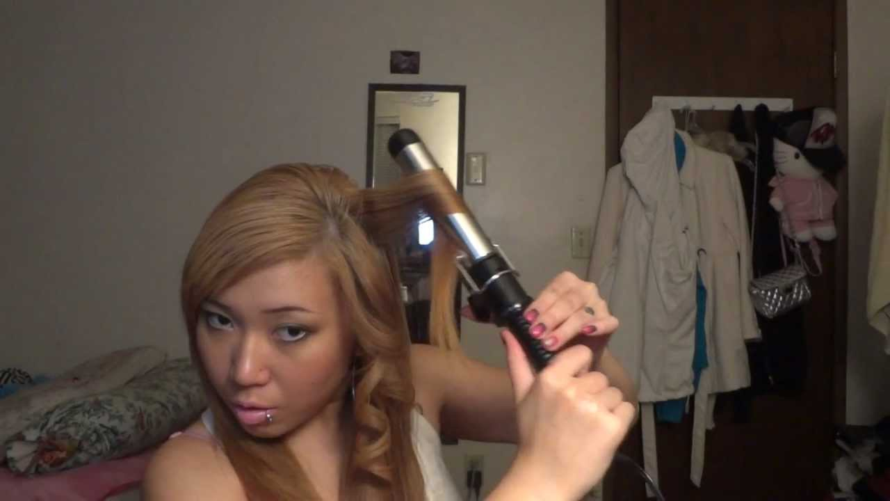 How to curl your hair with a conair instant heat curling iron