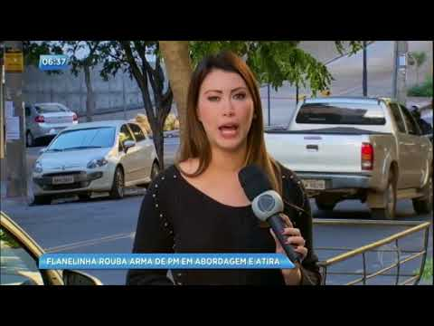 Flanelinha rouba arma de policial e atira