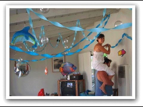 Decoration ideas for baby shower youtube for Baby shower ceiling decoration ideas