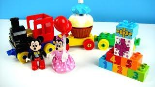 玩米奇妙妙屋 火車生日蛋糕園遊會 數字學習 樂高積木 玩具開箱