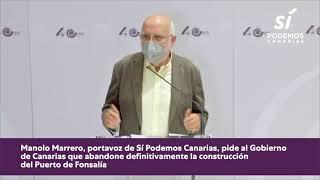 Rueda de prensa completa sobre el macroproyecto del Puerto de #Fonsalía
