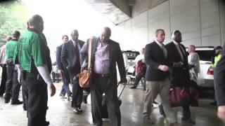 Alabama arrives at a rain-soaked Sanford Stadium