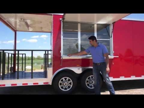 8.5 X 25 BBQ Trailer w/ Porch!
