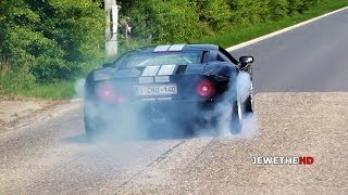 EPIC Ford GT BURNOUT, REVS and More!! LOUD Sounds!