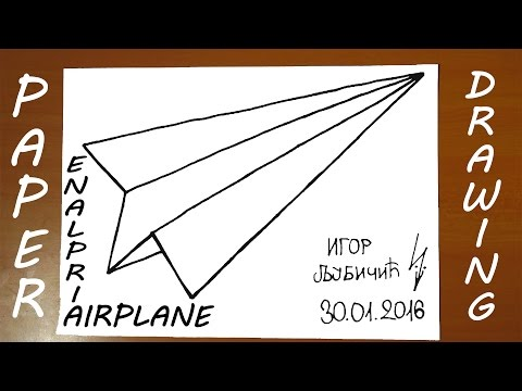 How to Draw a Paper Airplane Easy for kids - ORIGAMI