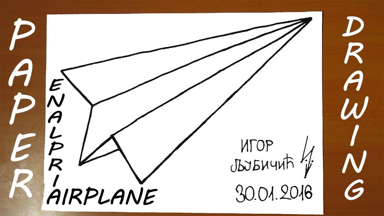 How To Draw A Paper Airplane Easy For Kids