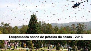 Lançamento aéreo de pétalas de rosas - 2016