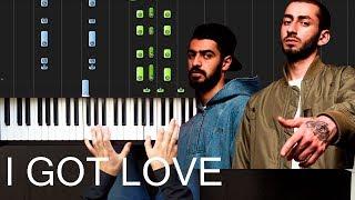 Download Miyagi, Эндшпиль Ft. Рем Дигга - I Got Love | На пианино | Ноты Mp3 and Videos