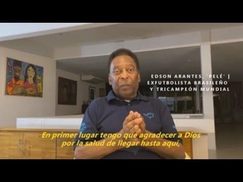 """Pelé en declaraciones a Sports 10: """"Tengo que agradecer a Dios por la salud  de llegar aquí"""" - YouTube"""