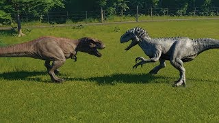 Indominus Rex VS T-Rex Jurassic World Evolution Steam: https://stor...