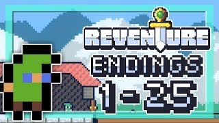 REVENTURE ENDINGS 1-25 Walkthrough   2 Left Thumbs