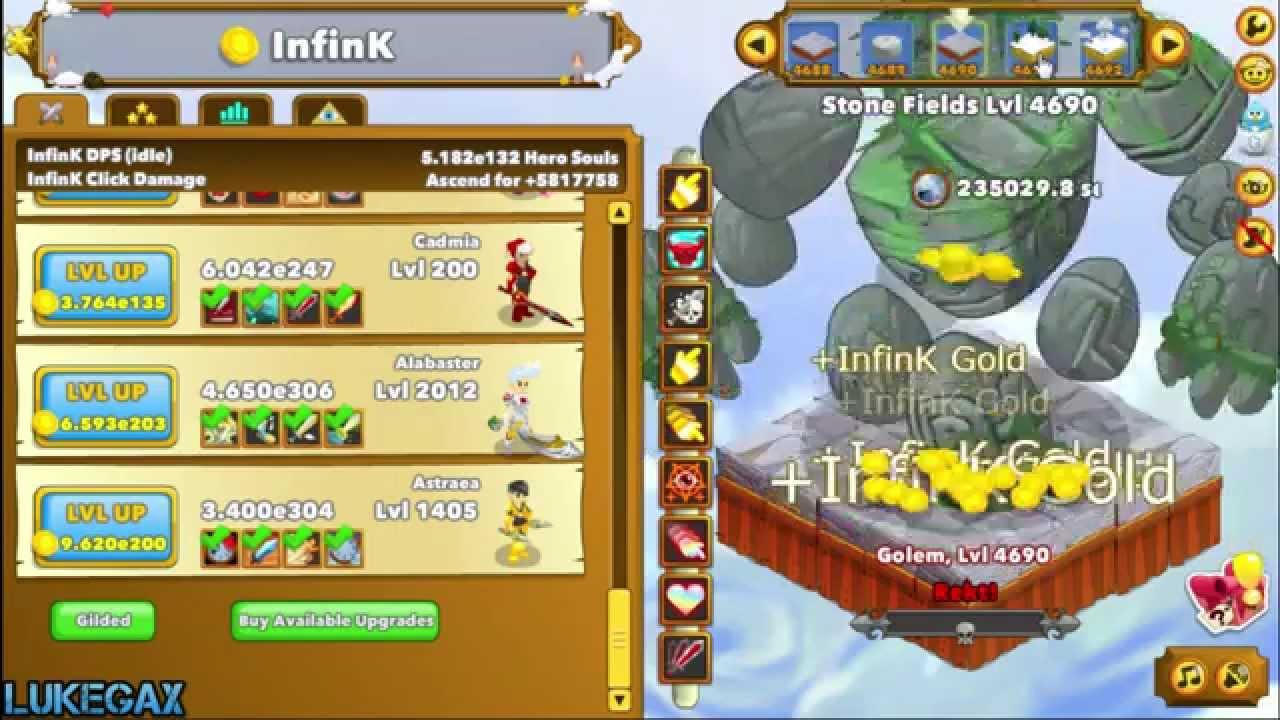 349 clicker heroes last levels bug 4600 lvl youtube