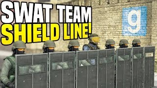 SWAT SHIELD LINE - Gmod DarkRP   Stopping Bank Robbers!
