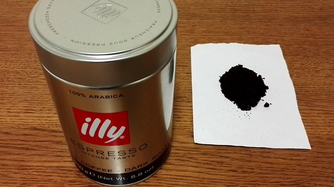 Illy Espresso Dark Roast Ground Coffee Review Youtube