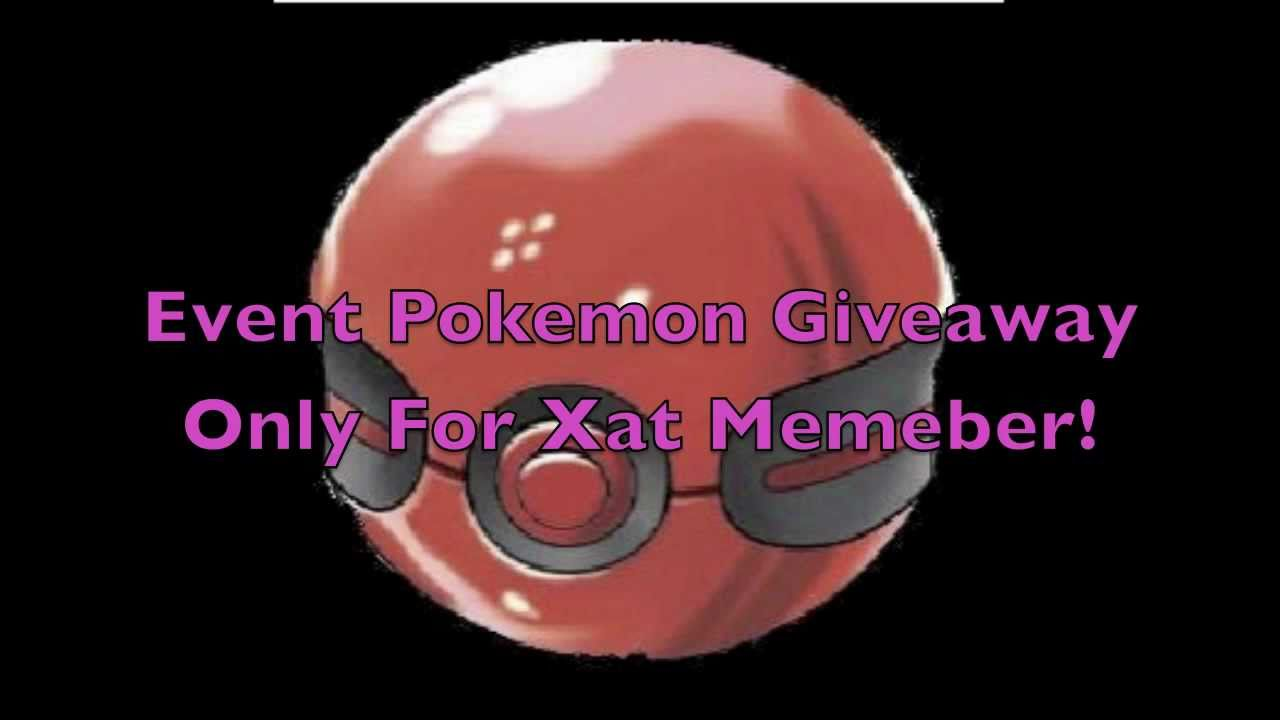 pokemon event giveaway closed jap pokemon event giveaway for xat member and 9650