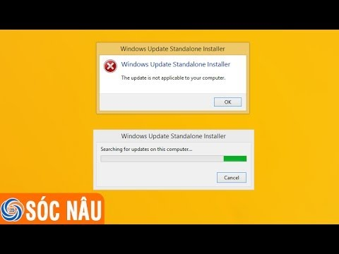 Hướng dẫn cách khắc phục lỗi the update is not applicable to your computer