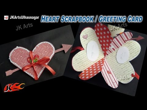 DIY Heart Shape Love Scrapbook | Greeting Card | How to make | JK Arts 739