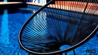 Acapulco Chair Replica - Outdoor Wicker - Black - Milan Direct