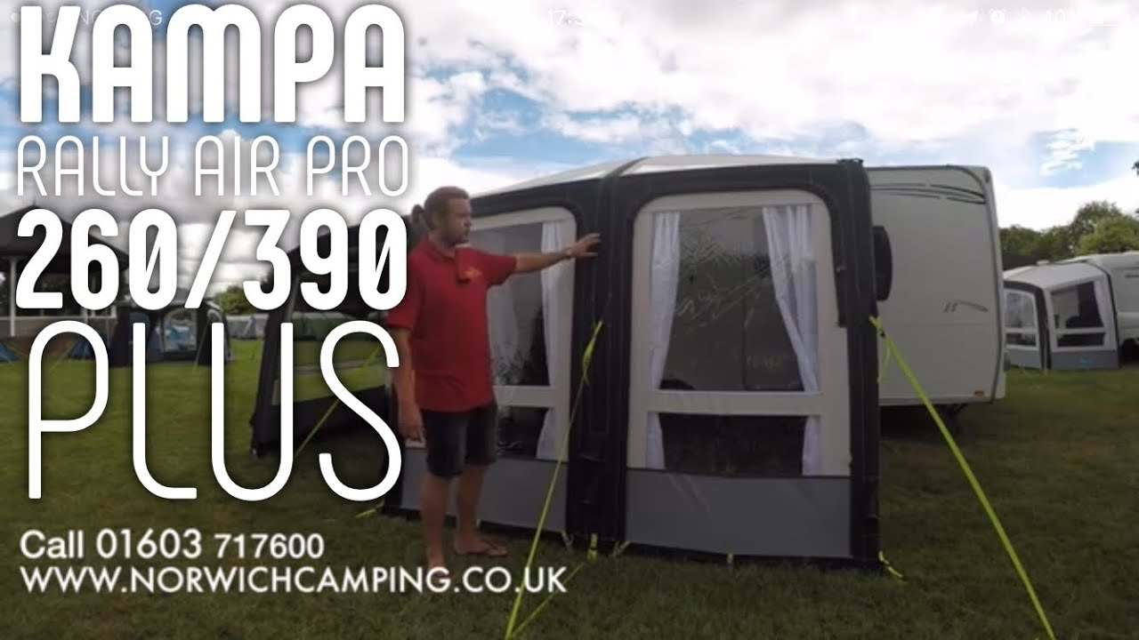 Kampa Rally Air Pro 260 Amp 390 Plus Awning 2018 Review