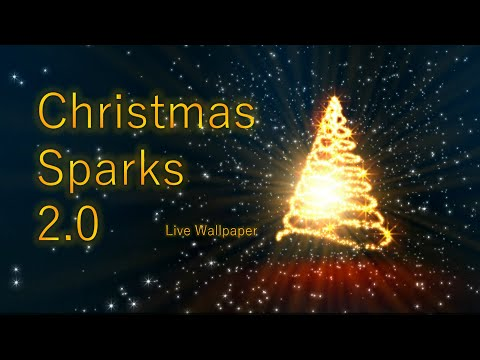 Christmas Sparks Live Wallpaper Free 2.0