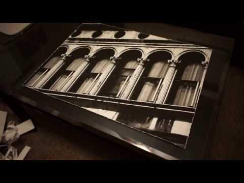 How to Deckle the edges of your artwork prints. Give the paper that tattered edge look.