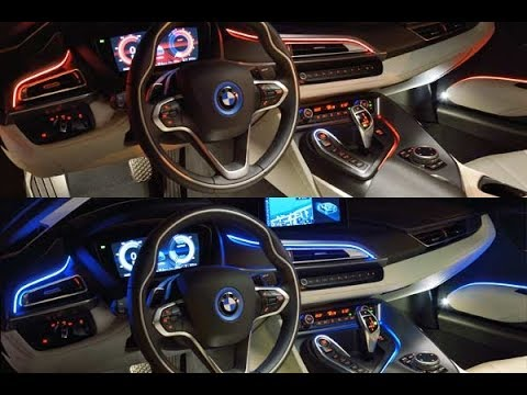 Bmw i8 interior at night youtube for Bmw i8 interior