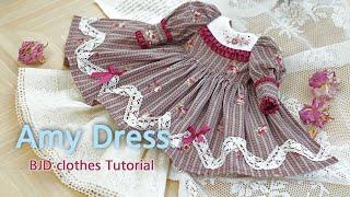 인형옷 만들기 / 에이미 드레스 / doll's…