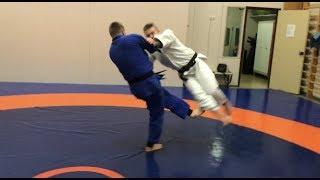 Дзюдо. Подсечки+комбинация. ОКУРИ АШИ БАРАЙ. Judo. Ashi waza. Ko uchi makikomi. Okuri Ashi Barai