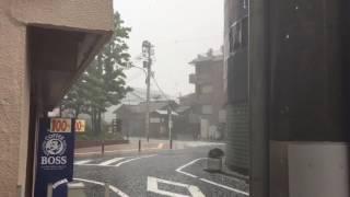 池袋豊島区役所付近の大雨からのヒョウ