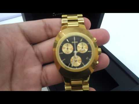 Rado dia star golden black dial automatic chron