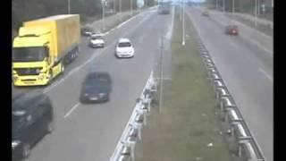 crazy truckers on european highway