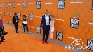 Host Rob Gronkowski and Camille Kostek at the Nickelodeon Kid's Choice Sports Awards