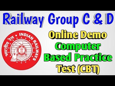 Railway Group D & C Demo Online CBT Test Set   Full Demo Tutorial of RRB Online Computer Based Test