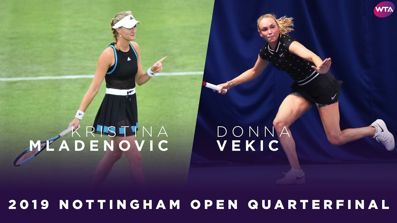 Kristina Mladenovic vs. Donna Vekic | 2019 Nottingham Open Quarterfinal | WTA Highlights