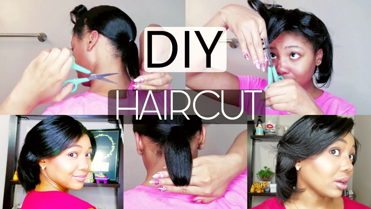 How To CUT your OWN Hair  PONYTAIL HAIRCUT METHOD!