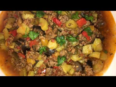 recette-de-la-ratatouille-à-la-viande-hachée-(وصفة-الرتاتوي-صحية-وسهلة-التحضير)