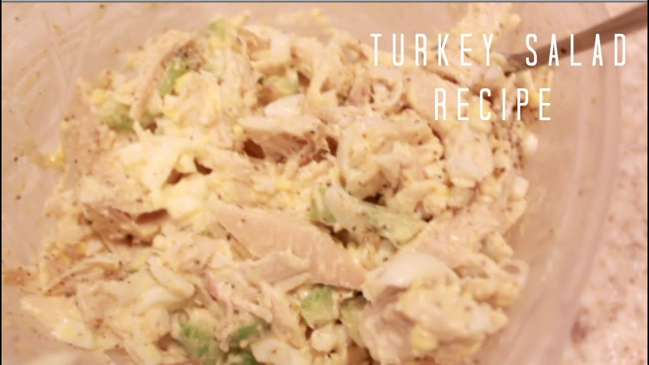 Turkey Salad Recipe The Best Thanksgiving Leftovers Youtube