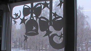 Как украсить окна на Новый год?