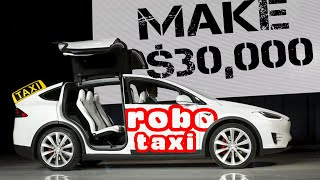 Tesla RoboTaxi Passive Income 🔥Make 30k a Year in 2019 or 2020 (Full Self Driving)