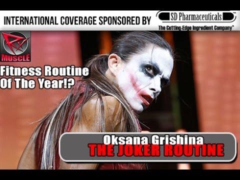 "Oksana Grishina ""The Joker"" 2013 Arnold Classic Europe In Madrid!"