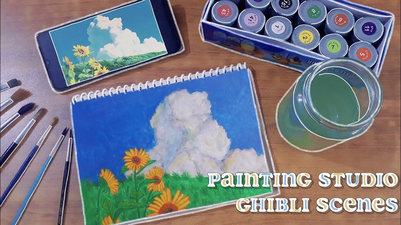 🖌️ painting studio ghibli scenes   my neighbor totoro