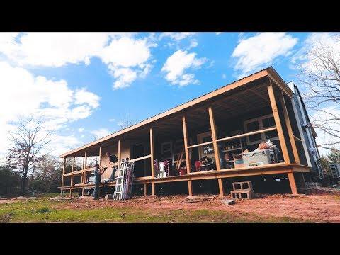 The Hollar Homestead Helps us BUILD OUR DECK RAILS